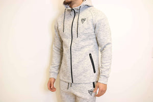 TLB Tech Zip-Up (White) - The Lost Breed