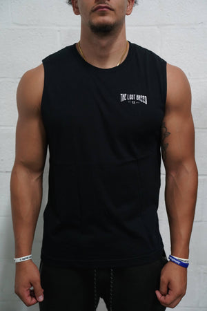 All Grind No Glory Cutoff (Black) - The Lost Breed