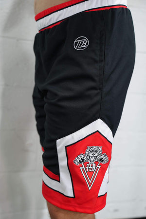 TLB Athletic Shorts (Black/Red) - The Lost Breed
