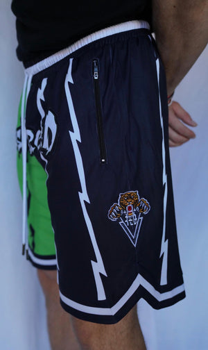 TLB Retro Shorts (Black/Green)