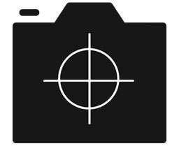 Photocrops Icon In Black