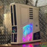 Custom Limited Edition Star Wars Xbox 360 Slim RGH2. Rainbow LED's, 60GB HDD Ready to Ship! - Sharky's Customs LLC