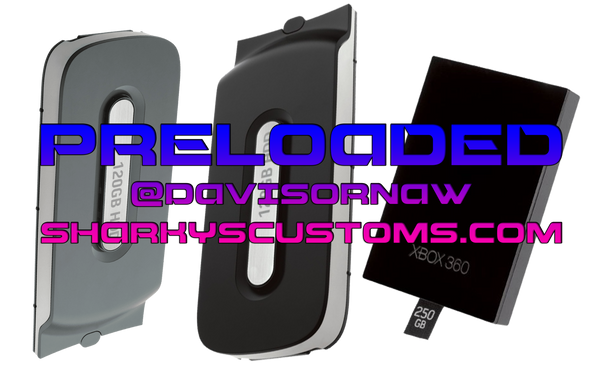 HDD / Hard Drive for RGH/JTAG ONLY (ONLINE READY) PHAT OR SLIM - Sharky's Customs LLC
