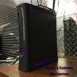 Custom Xbox 360 Black Jasper Elite RGH1.2 - LEDs of Your Choice! - Sharky's Customs LLC
