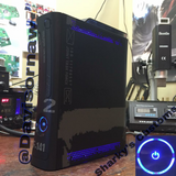 Custom Xbox 360 Black MW2 Jasper Elite RGH1.2 - LEDs of Your Choice! - Sharky's Customs LLC