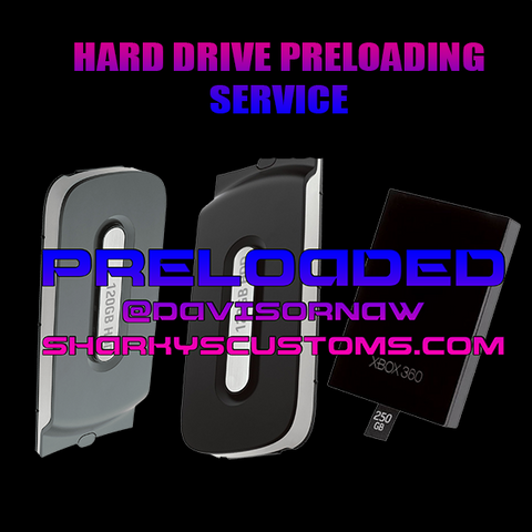 Send in your Hard Drive to get Preloaded with Mod Menus + Set up for Online Play - Sharky's Customs LLC