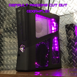 Custom Black Xbox 360 Slim RGH2 (LED's & Cut Out of Your Choice)
