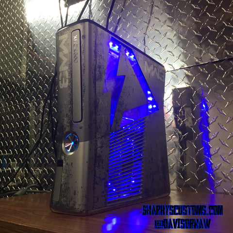 Custom (Blue) Limited MW3 Hand Crafted RGH2 Slim, 320 GB HDD W/ 15 Mod Menu's - Sharky's Customs LLC