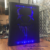 Custom Hand Cut Mushroom Head Jasper RGH1.2 With Blue LED's - Console Only - Sharky's Customs LLC