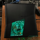 Custom Black Xbox 360 Slim RGH2 250GB Preloaded w/Green LED's | Ready to Ship - Sharky's Customs LLC