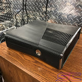 Custom Black Xbox 360 Slim RGH2 w/Carbon Fiber Skin (LED's & Cut Out of Your Choice)
