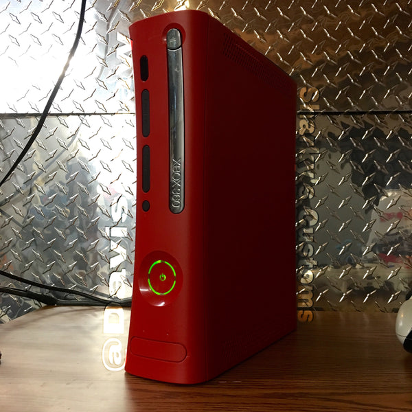 Custom Xbox 360 (Red) Resident Evil Jasper RGH1.2 - LEDs of Your Choice! - Sharky's Customs LLC