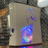 Custom White Xbox 360 Slim Corona RGH2 Wolf Cut out, 1TB HDD 15 MOD MENUS Ready to Ship - Sharky's Customs LLC