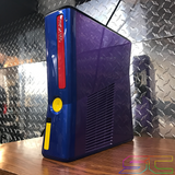 Custom Black Xbox 360 Slim RGH2 Colorware Custom Painted. Rainbow LED's! AMAZING! - Sharky's Customs LLC
