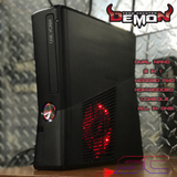 Custom Black Xbox 360 Trinity Slim Dual Nand (DEMON) 2 in 1! - Sharky's Customs LLC