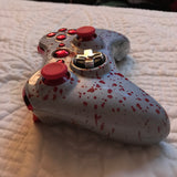 Custom Red/Silver Splatter Paint Xbox 360 Controller - Sharky's Customs LLC