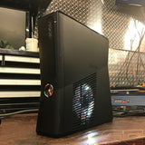 Custom Black Xbox 360 Slim RGH2 320GB Red/White LED's Ready to Ship - Sharky's Customs LLC