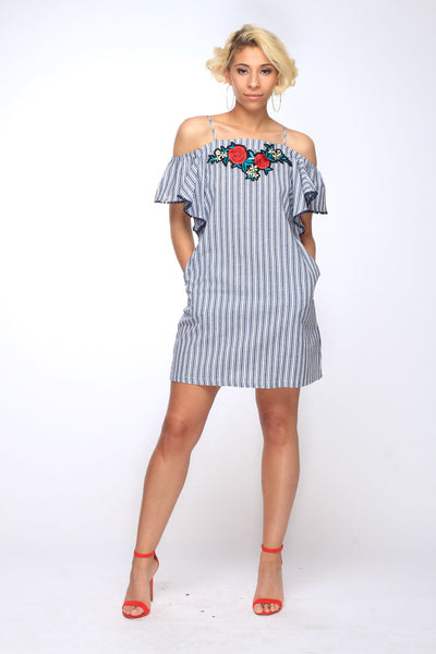 Danielle Ruffle Dress