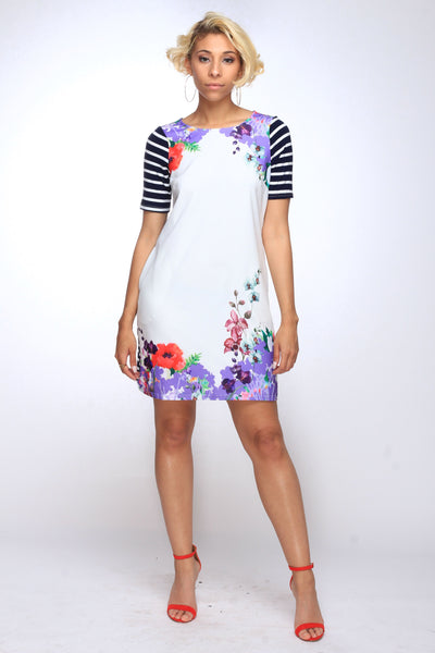 Jasmine Stripped Floral Dress