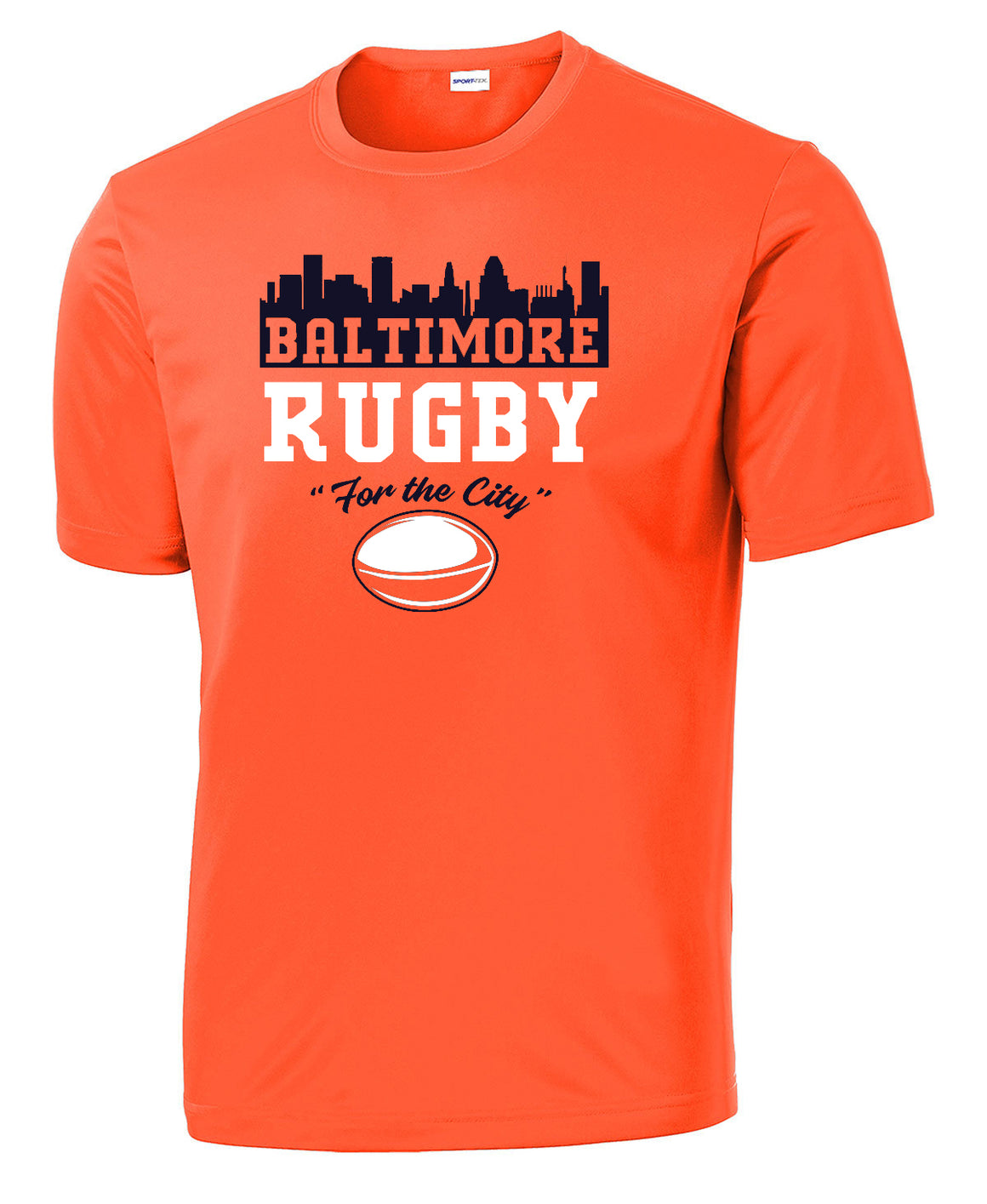 Baltimore Rugby T- Shirt - Bright Orange