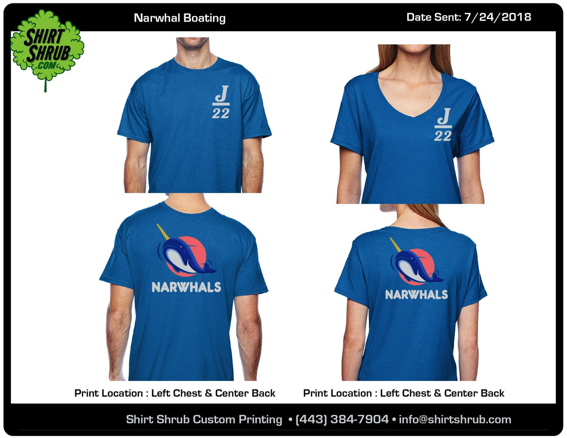 Narwhals Team Shirts
