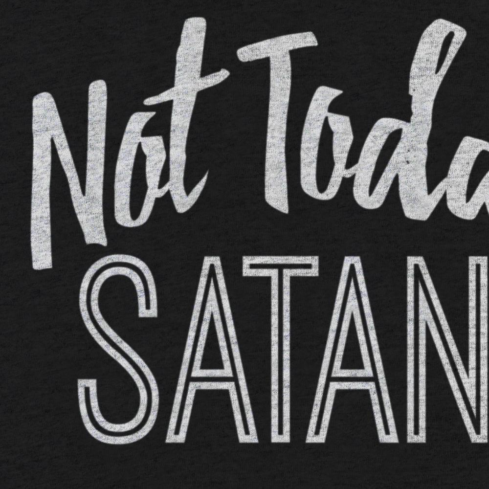 Not Today Satan - Women's Rolled Sleeve Dolman