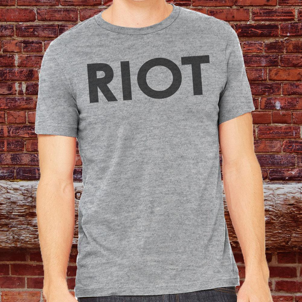Riot - Heather Grey Men's T-Shirt