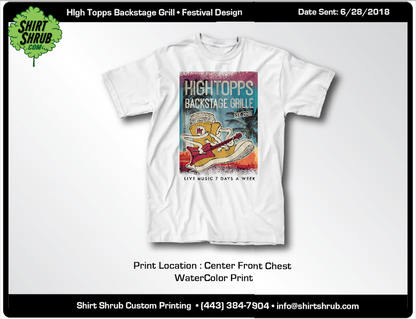 Hightopps Grille Festival Design