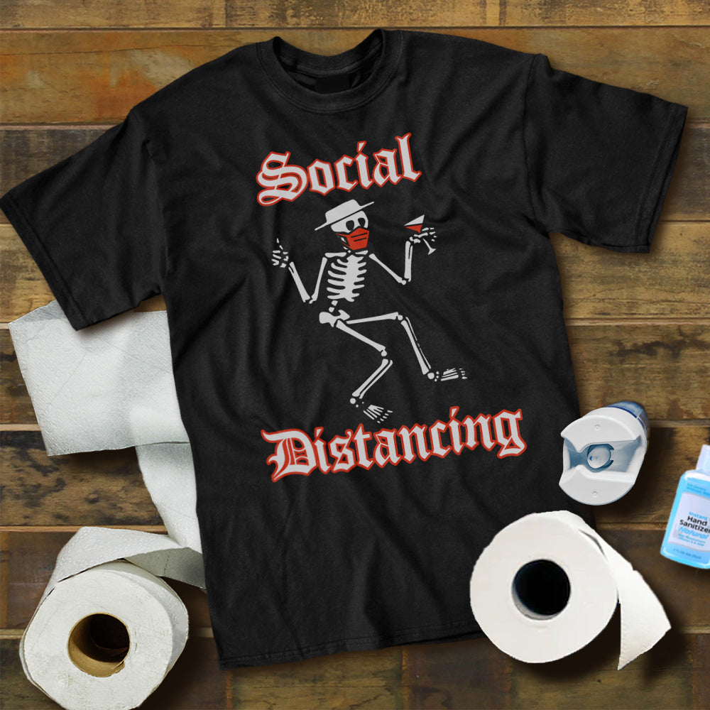 Social Distancing Skeleton Shirt