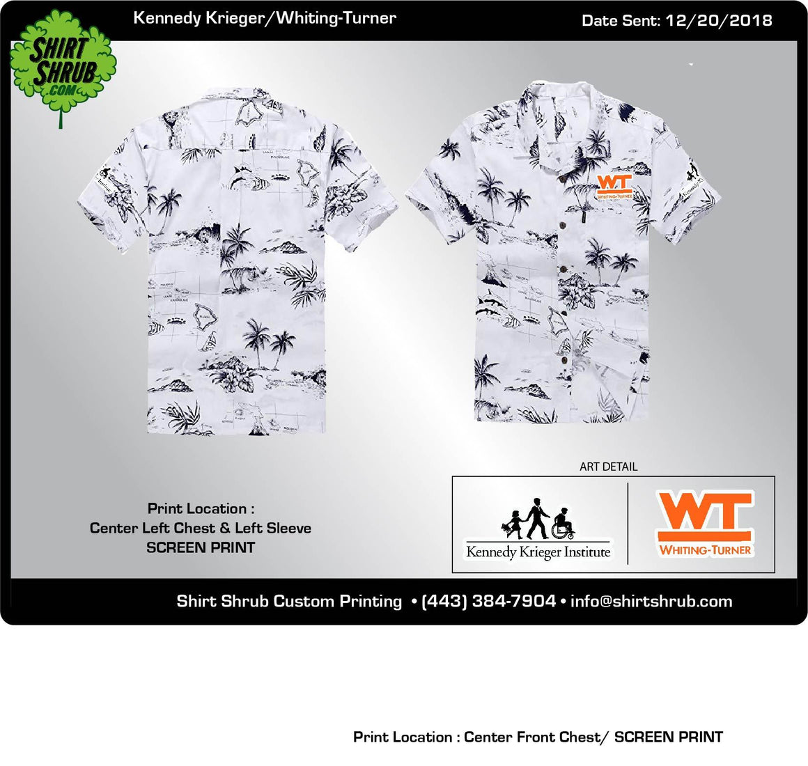 Kennedy Krieger Inst./Whiting Turner Hawaiian Shirts