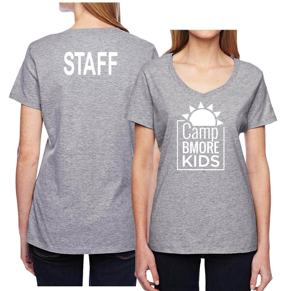 Woman's V-Neck Camp Bmore Staff Shirt