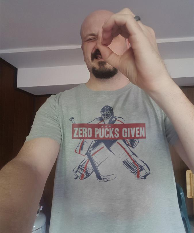 Zero Pucks Given Hockey Shirt