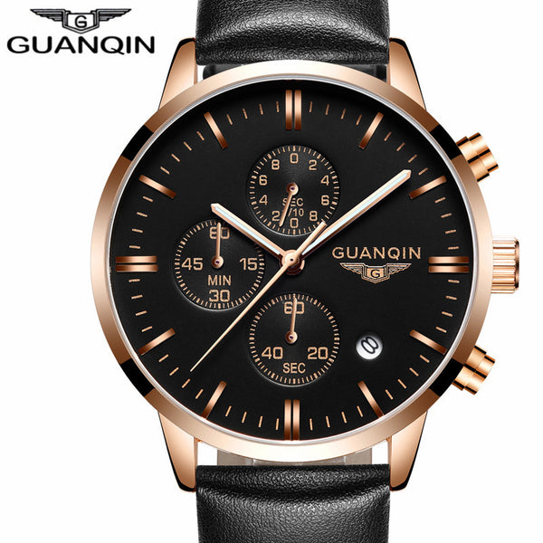 Military Sport Luminous Chronograph Leather Quartz Watch
