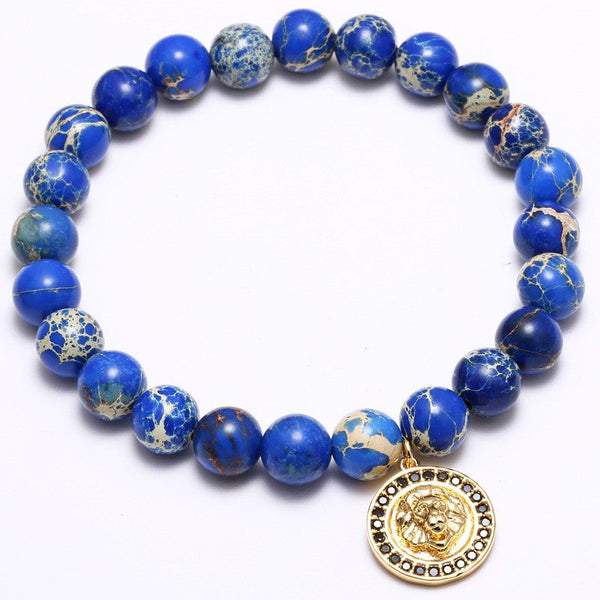 Majestic Lion BLUE EMPEROR JADE Bracelet, 4 Styles Available