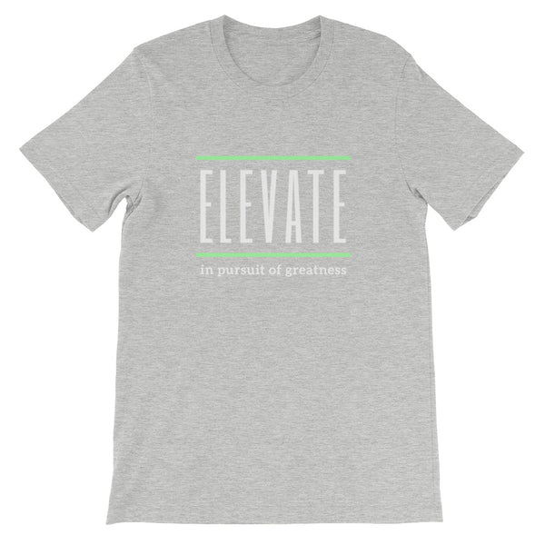ELEVATE Short-Sleeve Unisex T-Shirt (white logo)