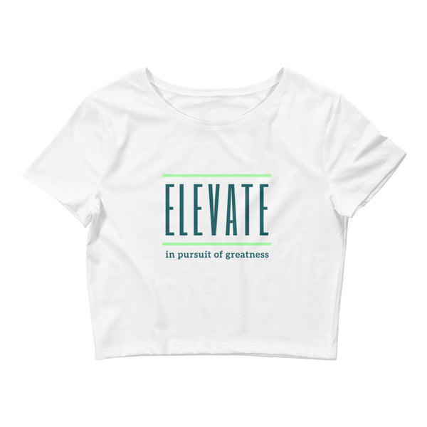 ELEVATE Women's Crop Tee (green logo)