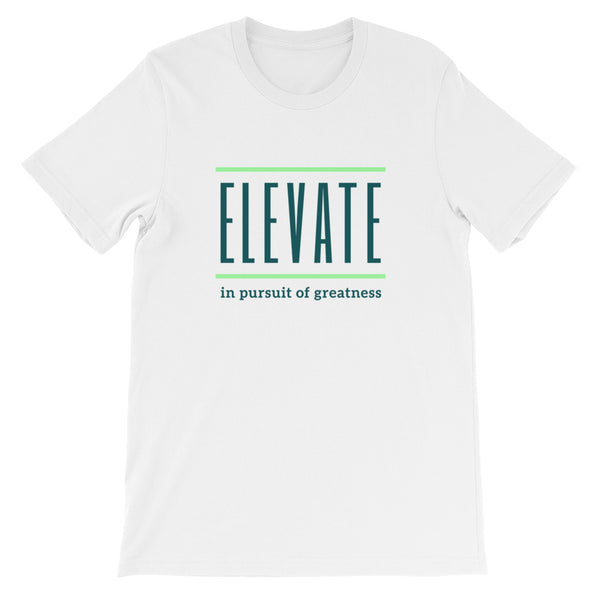 ELEVATE Short-Sleeve Unisex T-Shirt (green logo)