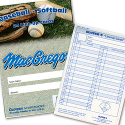 Baseball Line Up Card Booklet - Giantmart.com
