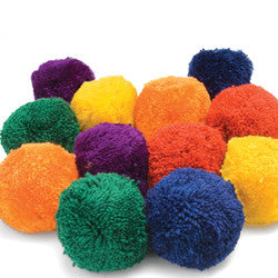 Colored Fleece Balls - Giantmart.com