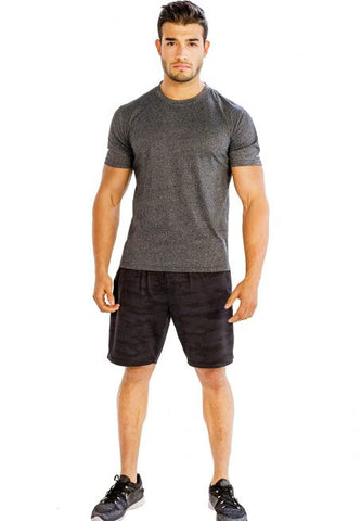 Dark Grey Half Sleeve Tees - Giantmart.com