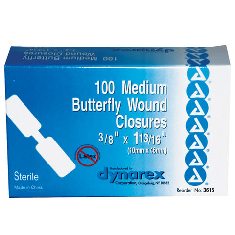 Adhesive Bandages Butterfly Box of 100