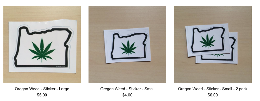 OREGON WEED STICKER