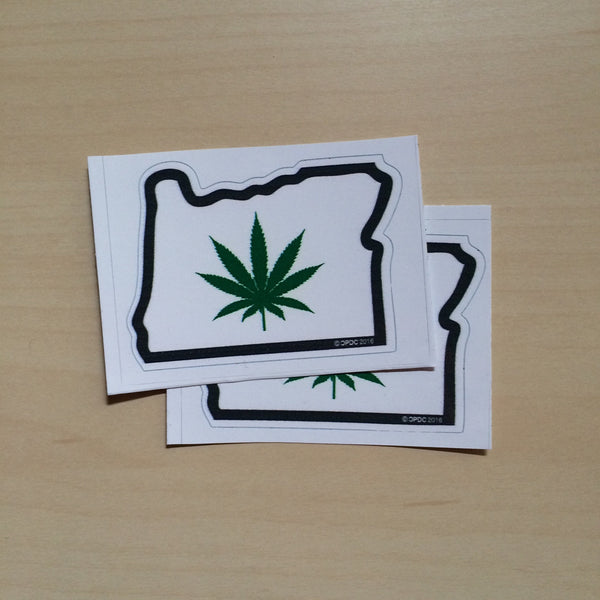 Oregon Weed - Sticker - Small - 2 pack