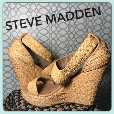 I'M MADDEN ABOUT YOU// Womens Steve Madden Wedge Heels Beach Chic