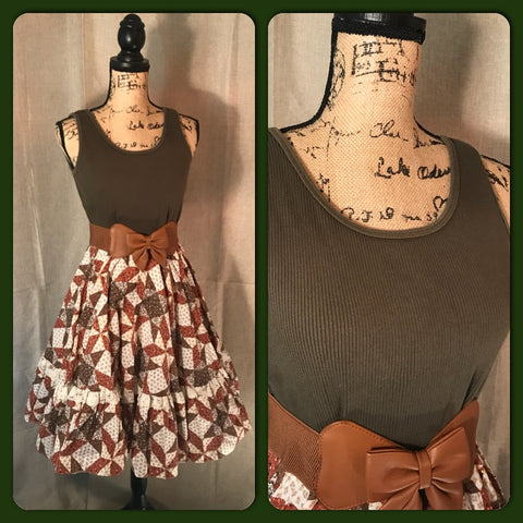 HARVEST HOTTIE - women's vintage// handmade// full circle skirt// ROCKABILLY// country chic// fall// festival// harvest