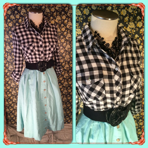 Take a Gander at Gingham - LOVE TREE// by FOREVER 21// BNWT// gingham flannel shirt