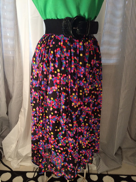Fashion Inside Out - Vintage ANN TAYLOR// bubbles// rainbow// skirt// Inside Out// party// pleated// size XS S