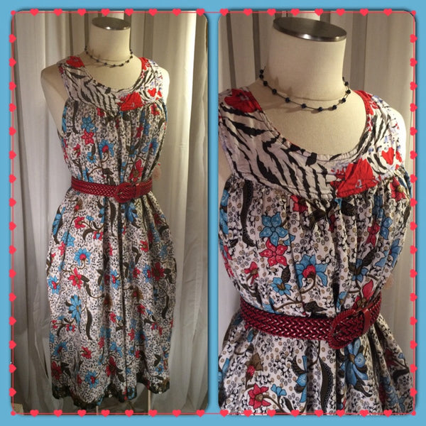 Red, White, and Cute - super cute// plus size// day dress// red white blue// bohemian// boho chic// country style