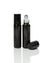 Glossy Black Glass 10 ml. Roller Bottles with Stainless Steel Rollers with black caps