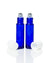 10 ml. cobalt blue glass roller bottle with  white cap and stainless steel roll